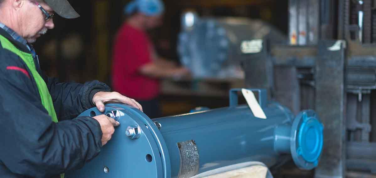 employee assembling parts